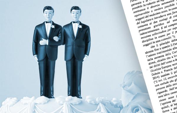 Matrimonio omosessuale contratto all'estero: diniego di trascrizione in Italia per vuoto normativo